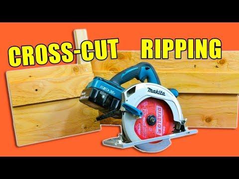 2 Handy Circular Saw Jigs: Cross Cut Jig & Ripping Jig