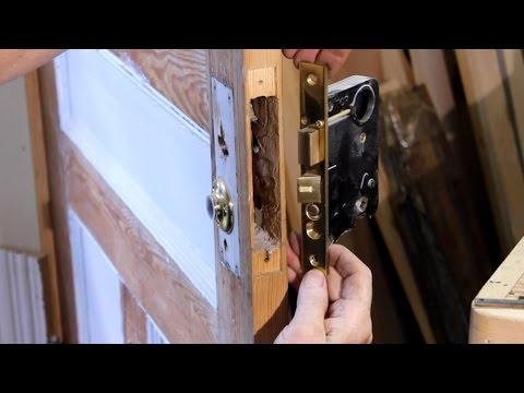 How To Remove a Mortise Cylinder Lock Set  From an Entrance Door