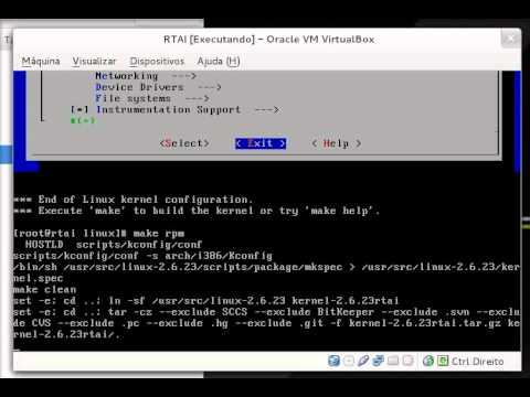 Aplicar patch RTAI, configurar e compilar o Kernel CentOS