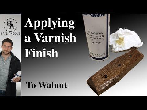 Applying varnish to wallnut