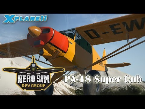 AeroSim Dev Group PA-18 Super Cub for X-plane 11