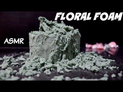 ASMR FLORAL FOAM CRUSHING AND CUTTING | NO TALKING ASMR