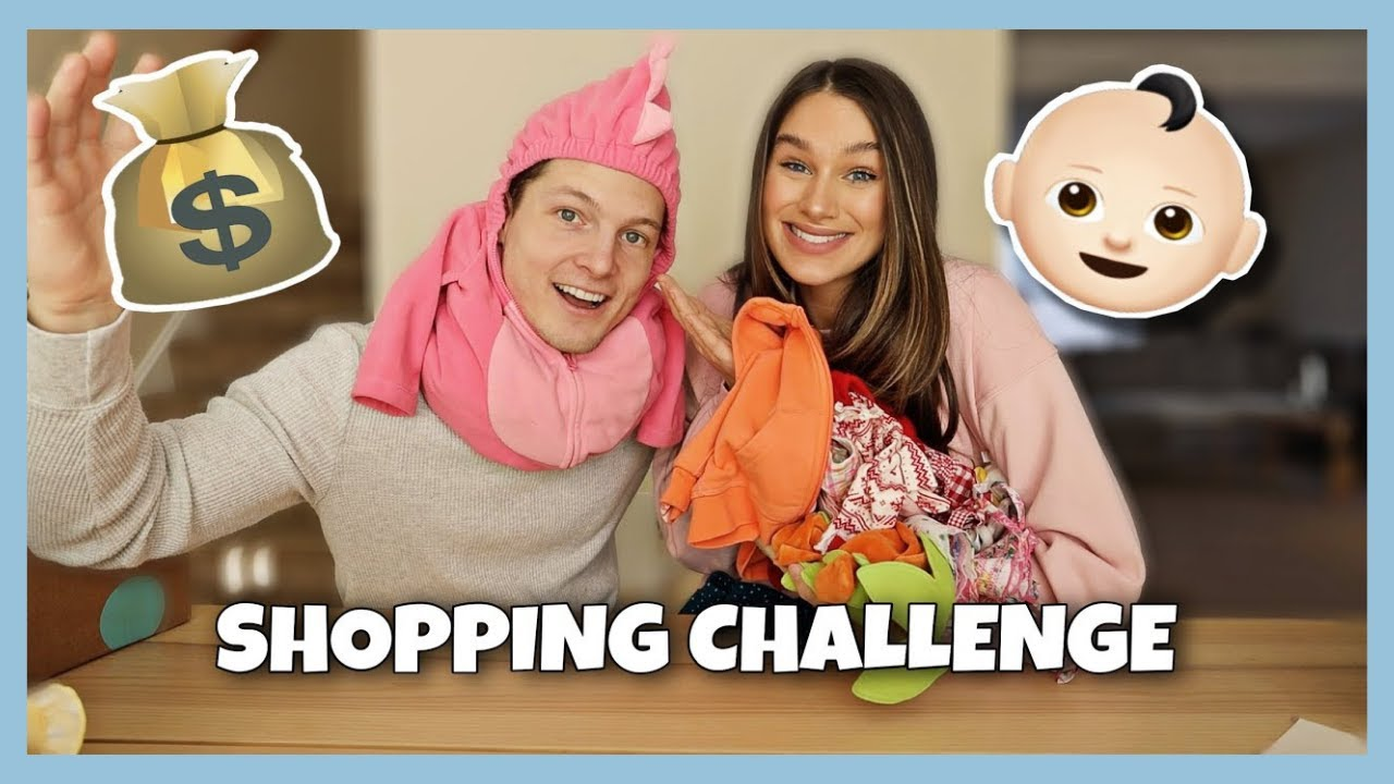 BABY SHOPPING CHALLENGE! Husband vs Wife | The Herbert's
