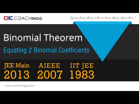 Property of nCr - Equate two Binomial Coefficients - nCx = nCy - JEE 1983, AIEEE 2002, JEE Main 2013