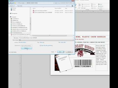 Saving a File to PDF from Microsoft Publisher