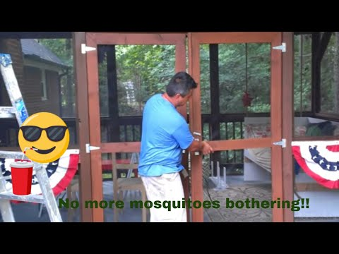 screen porch construction on your deck