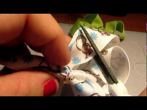 How to Make Basic Boutique Style Baby Girls Hair Bows.mp4