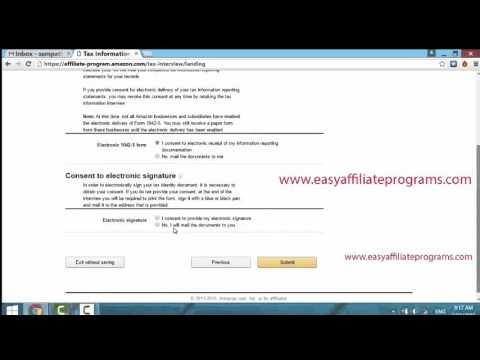 Amazon Tax Info for Non US Affiliates