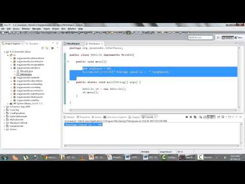 Object Oriented Programming - Q 11) Interfaces