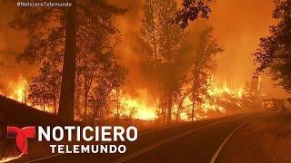 Un nuevo incendio azota el noroeste de California | Noticiero | Noticias Telemundo