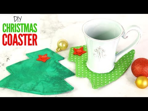 DIY Christmas Coaster, Drink Coaster Tutorial