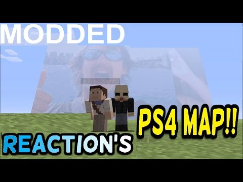 Minecraft PS4 - Modded Map!!! I've NEVER SEEN THIS BEFORE!!! & Face Reveal Inside Minecraft!!??