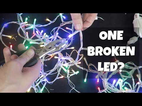 One Broken LED in Christmas Lights?