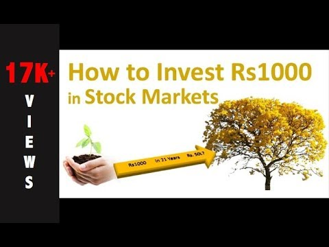 How to Invest Rs1000 in Stock Markets?