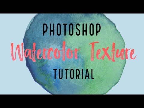 Photoshop Watercolor texture tutorial - How to clean up your scanned image