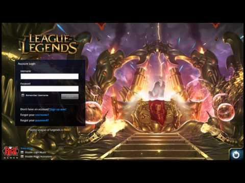 League of Legends Client - 1st April 2015 Login Screen