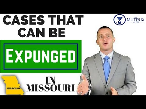 Cases that Can be Expunged in Missouri