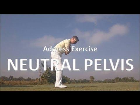 Correct Posture at Address - Neutral Pelvis