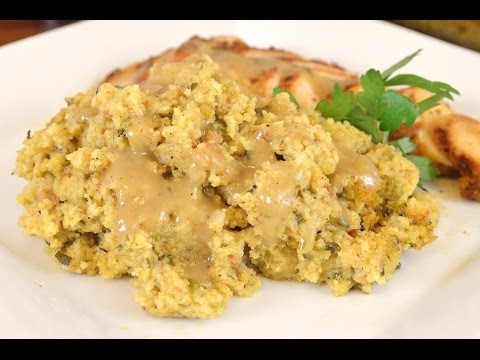 Holiday Series   Sausage & Sage Cornbread Dressing Recipe  Cooking With Carolyn
