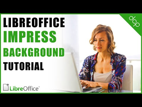 How to create a custom background for Libre Office Impress slides