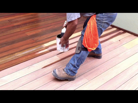 How to apply Ipe oil or Exo-oil on an Ipe decking - From  www.nationaldecking.com