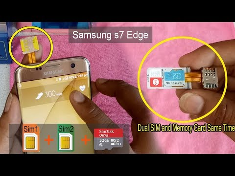How to Insert Dual Sim & SD Card Simultaneously on Samsung Galaxy S7 and s7 edge