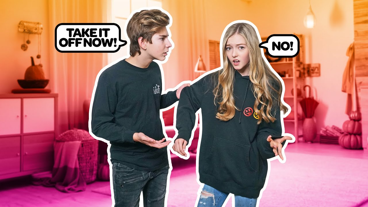 Wearing Another Guys Hoodie To See How My CRUSH Reacts **PRANK** | Emily Dobson