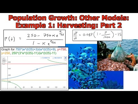 Population Growth: Other Models: Harvesting: Example 1 Part 2
