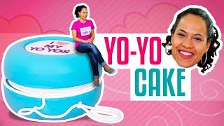 How To Make A Giant YoYo out of CAKE   RETRO Marbled Vanilla Cakes   Yolanda Gampp   How To Cake It