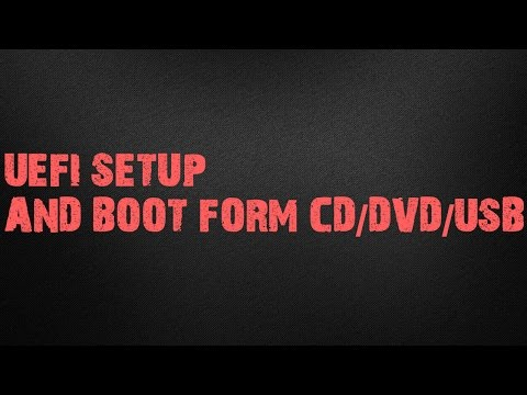 UEFI Boot\How to Boot from CD/DVD/USB