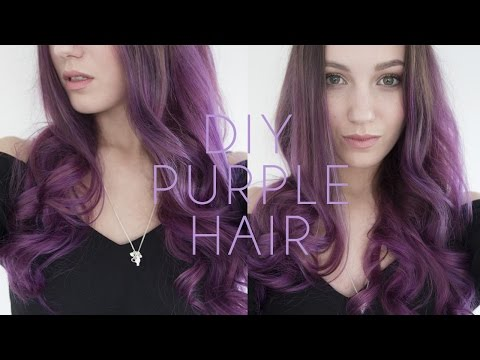 Purple Hair Dye Tutorial - How to Dye your Hair at Home