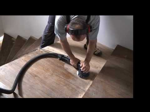 Sanding a Staircase - Refinish, sand, stain laquer wooden stairs
