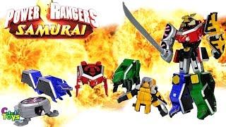 Power Rangers Samurai - Toys MEGAZORD  パワーレンジャーサムライおもちゃ Video for Kids