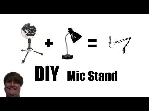 DIY Blue Snowball Mic Stand