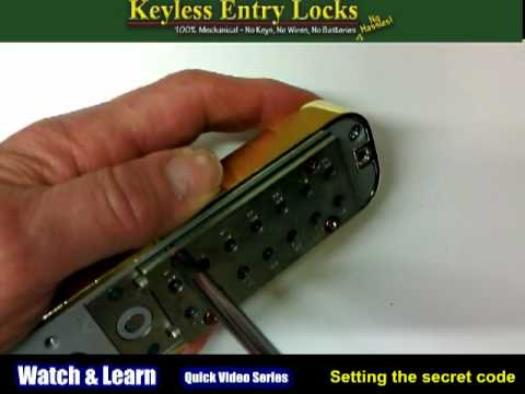 How to Change the Combination on a Keyless Lock