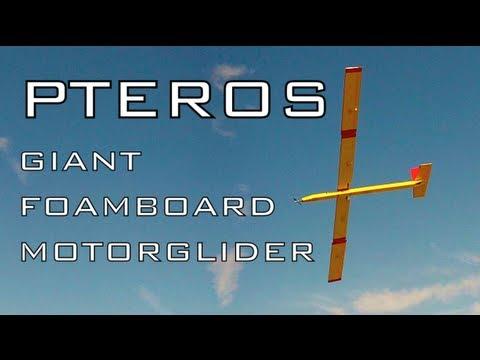 PTEROS - 10' Wingspan Foamboard Motorglider