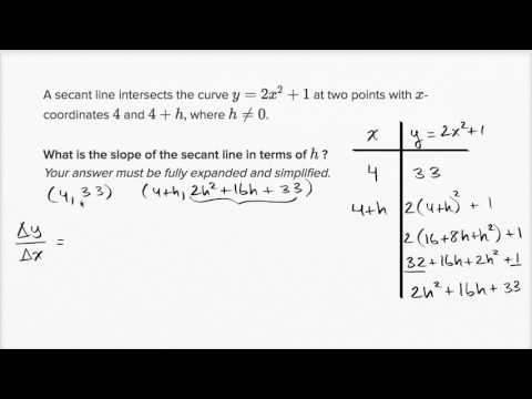 Secant line with arbitrary difference (with simplification) | AP Calculus AB | Khan Academy