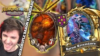 Quadruple Baron Rivendare Procs ft. Zalae | Firebat Battlegrounds