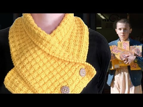 Knit a Waffle Neck Warmer Scarf | Eleven's Stranger Things Eggos