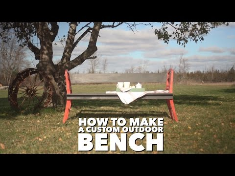 How to Make a Bench out of old Chairs