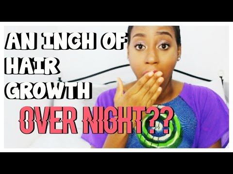 How To Grow An Inch Of Hair OVERNIGHT??!! | Results on Relaxed Hair Tested!!