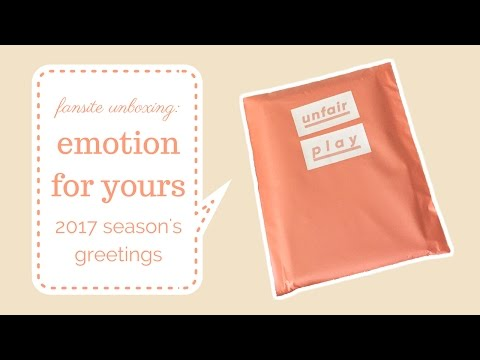 Fansite Unboxing : BTS Jungkook emotion for yours 2017 Season's Greetings by Unfair Play