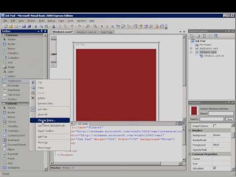 Visual Basic 2008 How To: Create a WPF Application