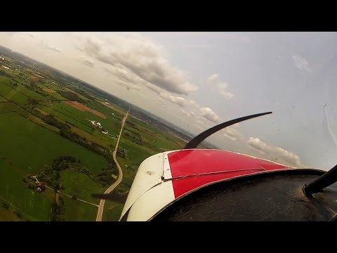 Solo - Wheel LANDING and 3 pointers - progress and regression - Super Cub - POV flying