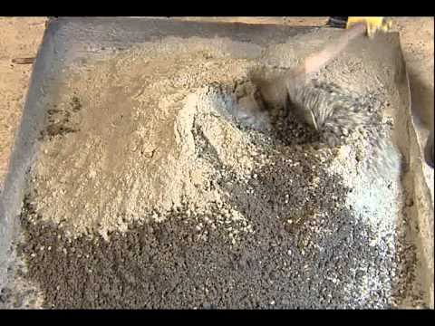 HOW TO MIX CONCRETE MANUALLY