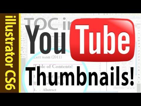 Youtube Thumbnail Tutorial 2012 - for illustrator CS6 (Adobe howto)