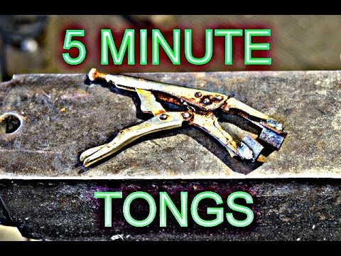 Easy Blacksmith Tongs from Vice Grips - Basic Blacksmithing Tools for Beginners