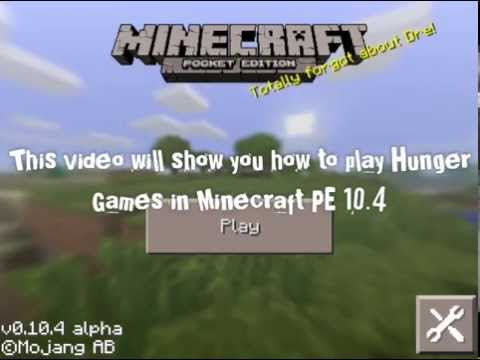 How to play Hunger Games in Minecraft PE 10.4