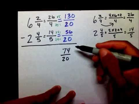 Subtract Fractions Part 2