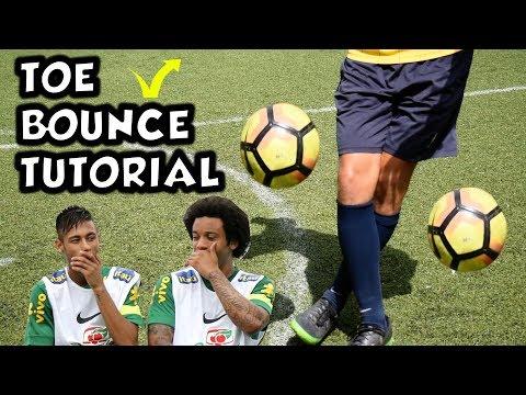 Toe Bounce Tutorial | Marcelo and Neymar Warm Up Skills |